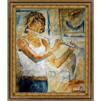 Pol Ledent Flute player Framed Fine Art Print