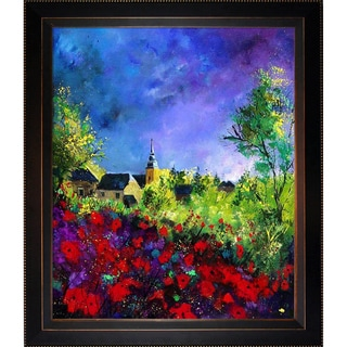 Pol Ledent Poppies in Villers Framed Fine Art Print