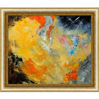 Pol Ledent Abstract 88210112 (yellow) Framed Fine Art Print