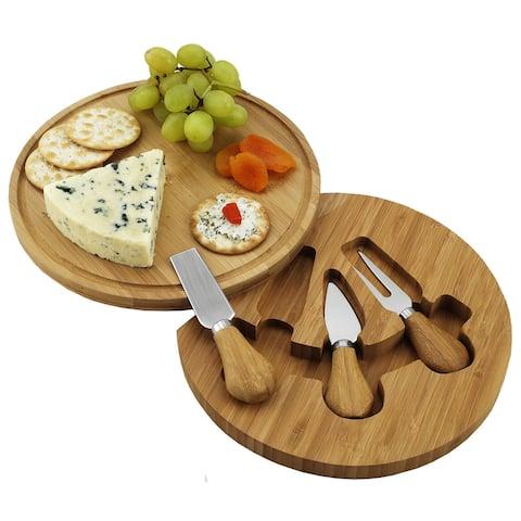 Picnic at Ascot Bamboo Feta Cheese Board Set