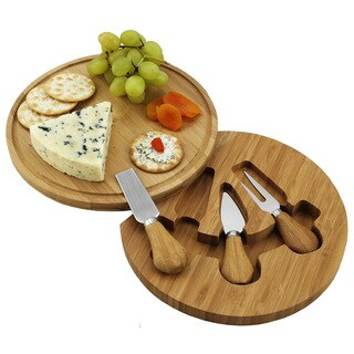 Picnic at Ascot Bamboo Feta Cheese Board Set