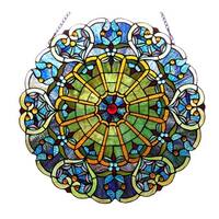 Chloe Tiffany-Style Round Window Panel