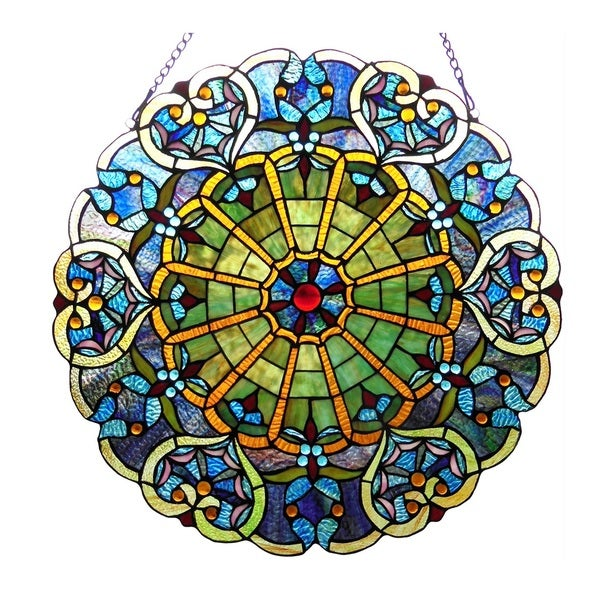 Shop Chloe Tiffany Style Round Window Panel On Sale