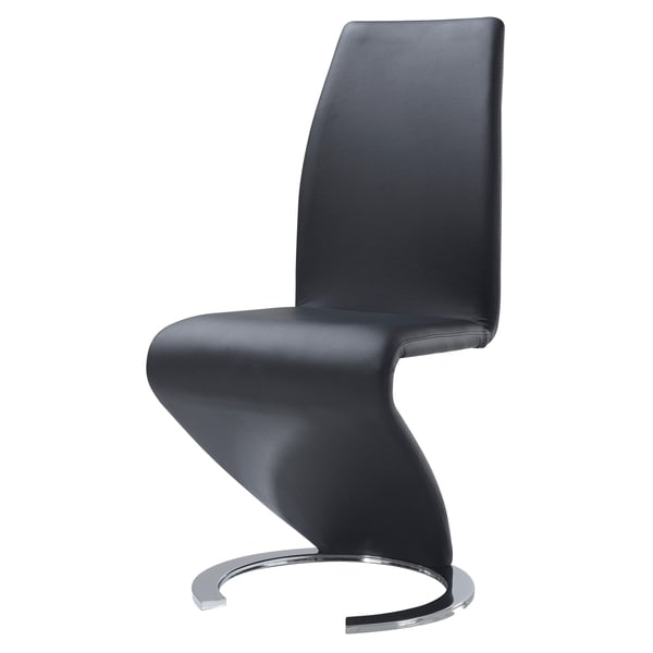 Genial Modern Black Polyurethane Dining Chair
