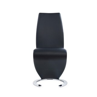 Modern Black Polyurethane Dining Chair