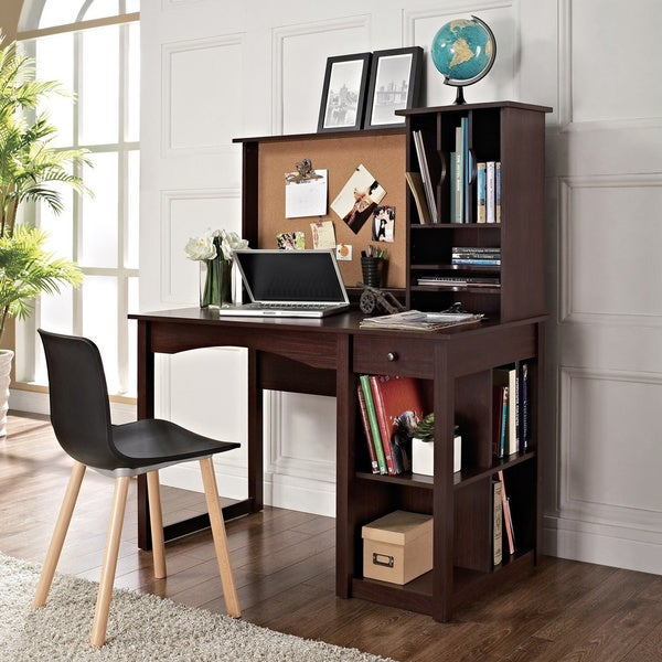 Altra writing desk with hutch