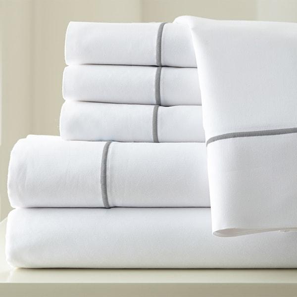Amrapur Overseas 1000 Thread Count Cotton Blend Sheet Set with Single Marrow Hem 6-piece