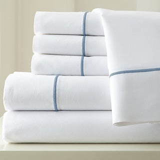 Amrapur Overseas 1000 Thread Count Cotton Blend Sheet Set with Single Marrow Hem 6-piece