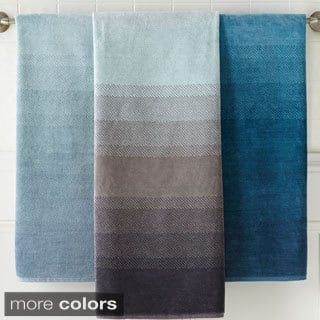 Amraupur Overseas Yarn-dyed Ombre Jacquard 6-piece Towel Set|https://ak1.ostkcdn.com/images/products/9397800/P16586484.jpg?impolicy=medium