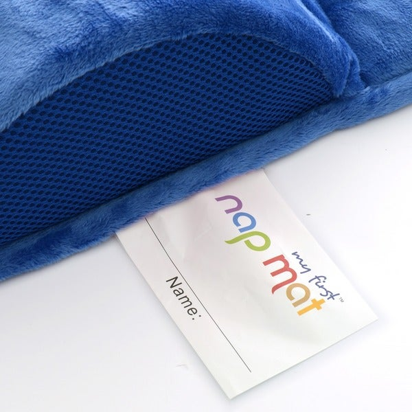 My First Nap Mat Premium Memory Foam Nap Mat with Built-In Removable Pillow,