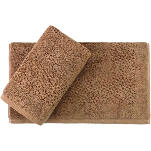 Classic Turkish Towel Hardwick 900 GSM 20 x 30 Bath Mat (Set of 2)