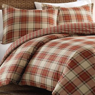 Eddie Bauer Edgewood Red Plaid Cotton 3-piece Duvet Cover Set|https://ak1.ostkcdn.com/images/products/9397829/P16586540.jpg?impolicy=medium