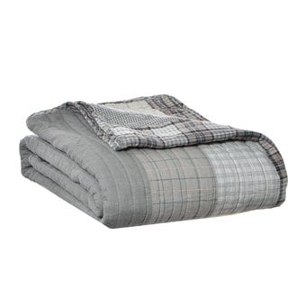 Eddie Bauer Fairview Cotton Quilted Throw