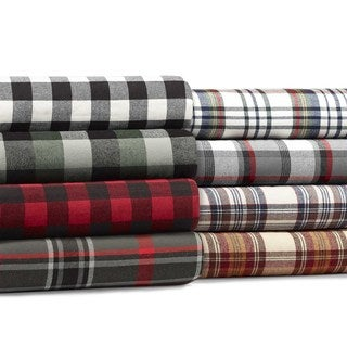 Eddie Bauer Flannel Sherpa Throws - 50X60