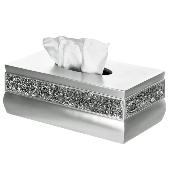 Shop Rectangular Brushed Nickel Tissue Box Free Shipping