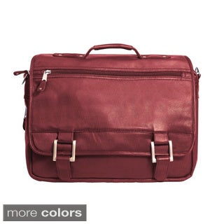 New Yorker 16-inch Full Grain Cowhide Leather Messenger Bag Briefcase