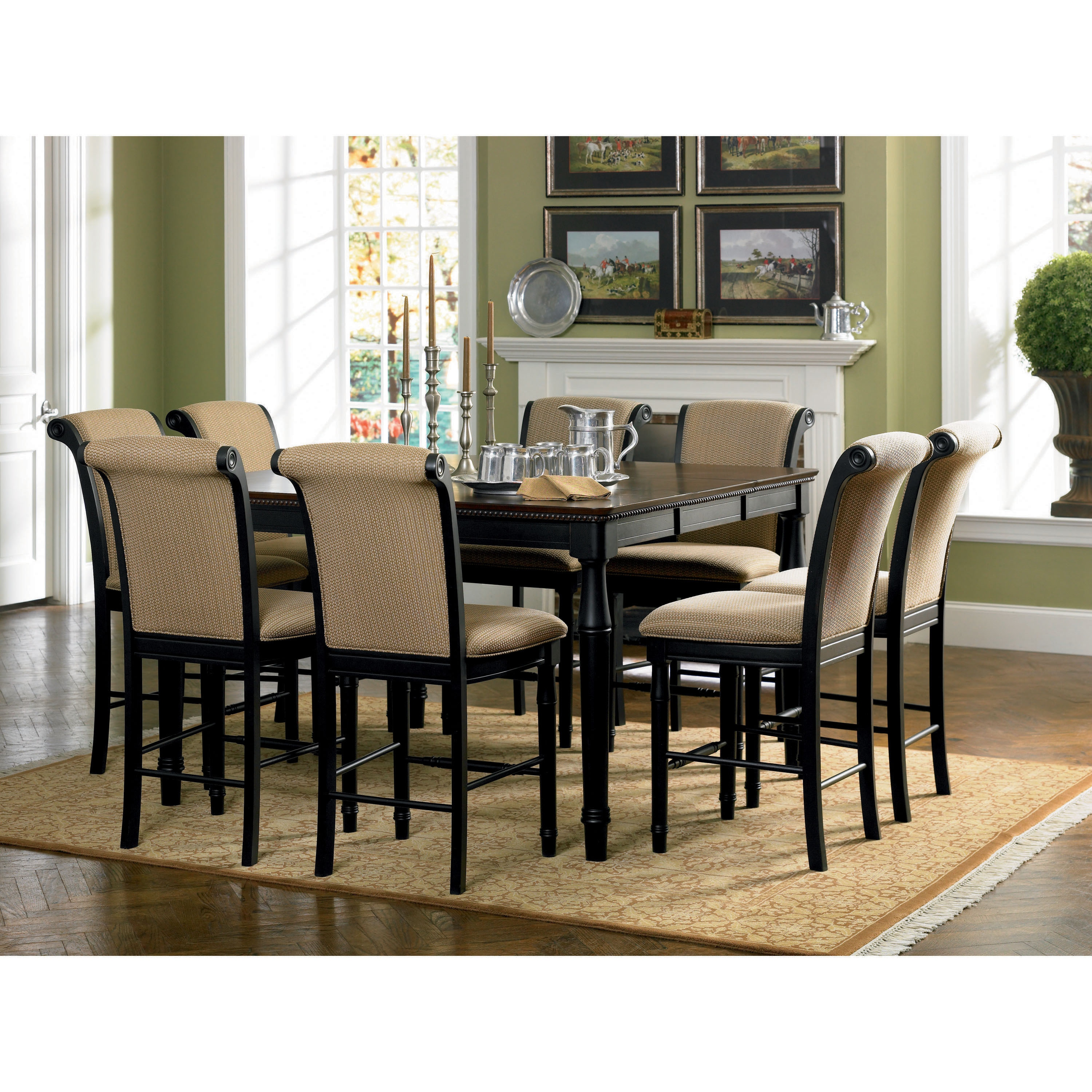 Cabrillo Counter Height Dining Table Black Overstock 9397910