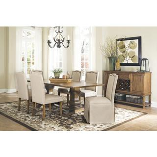 Hampton Adair Coffee-finish Traditionally Inspired 7-piece Set