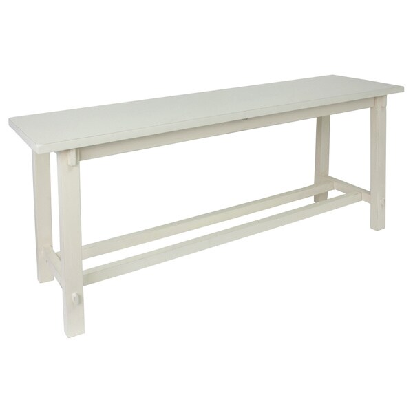 Kyoto Antique White Wooden Bench Free Shipping Today 16586634