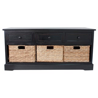 Montgomery Storage Bench with Woven Baskets
