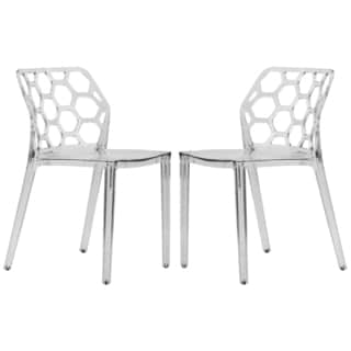 LeisureMod Cove Clear Acrylic Modern Dining Chair (Set of 2)