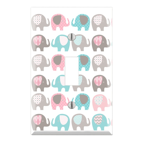 Decorative Elephant Nursery Wall Plate Cover - Free Shipping On ...