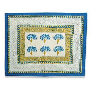 Couleur Nature Blue and Green Printed Place Mats (Set of 6)