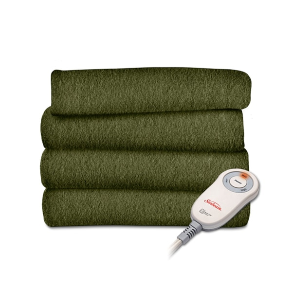 Ivy Fleece Heated Throw Blanket