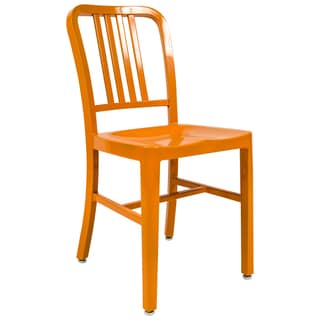 LeisureMod Alton Modern Orange Dining Chair