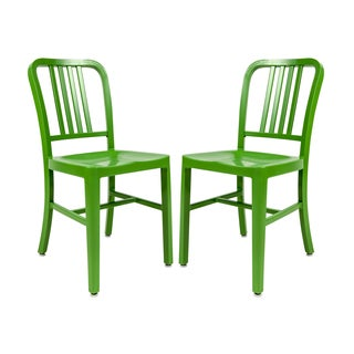 LeisureMod Alton Green Dining Chair (Set of 2)