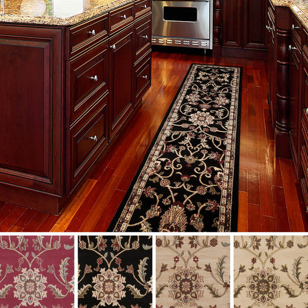 meticulously woven lanier floral runner rug 3 39 x 8 39 free shipping today. Black Bedroom Furniture Sets. Home Design Ideas