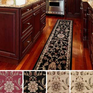 Meticulously Woven Lanier Floral Runner Rug (3' x 7') (Option: Black)|https://ak1.ostkcdn.com/images/products/9398053/P16586724.jpg?impolicy=medium