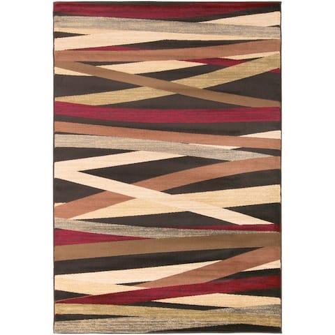 Gwinnett Abstract Stripes Area Rug