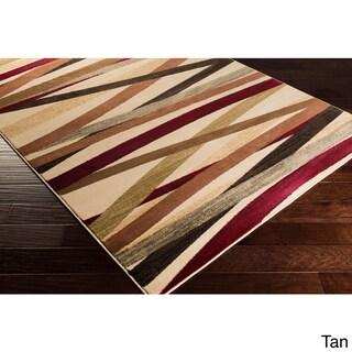 Gwinnett Abstract Stripes Runner Rug (2' x 7'5) - 2' x 7'5 (Option: Tan)