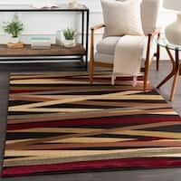 Gwinnett Abstract Stripes Runner Rug - 2' x 7'5""
