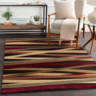 Gwinnett Abstract Stripes Runner Rug