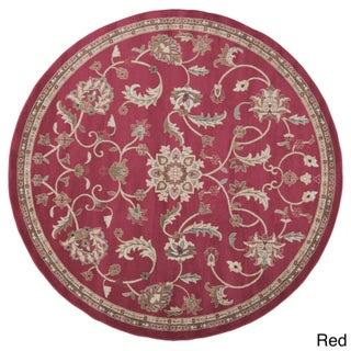 Lanier Floral Area Rug (Option: 8' - Red - Khaki)