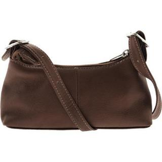 Women's Piel Leather Small Shoulder Mini 2467 Chocolate Leather