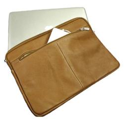 Piel Leather 13in Zip Laptop Sleeve 2892 Saddle Leather