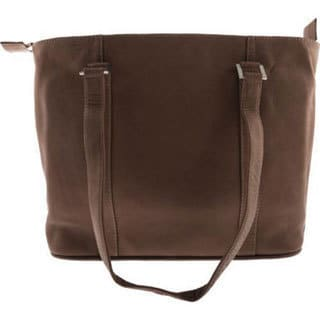 Piel Leather Computer Tote Bag 2470 Chocolate Leather