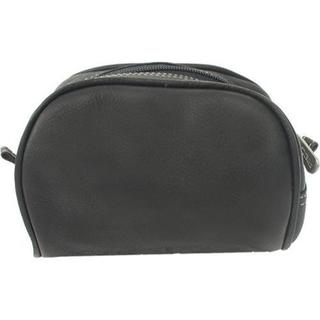 Women's Piel Leather Cosmetic Bag 2405 Black Leather