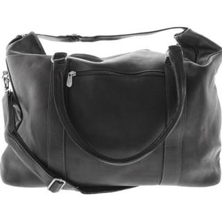 Piel Leather Black European Carry On Tote Bag