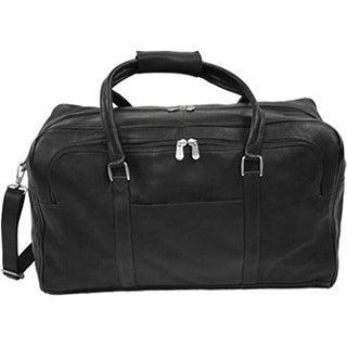 Piel Leather Half-Moon Duffel 9194 Black Leather