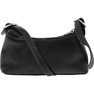 Women's Piel Leather Small Shoulder Mini 2467 Black Leather