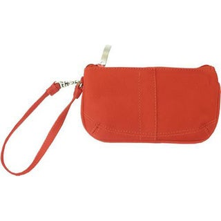Piel Leather Red Women's Wristlet Bag