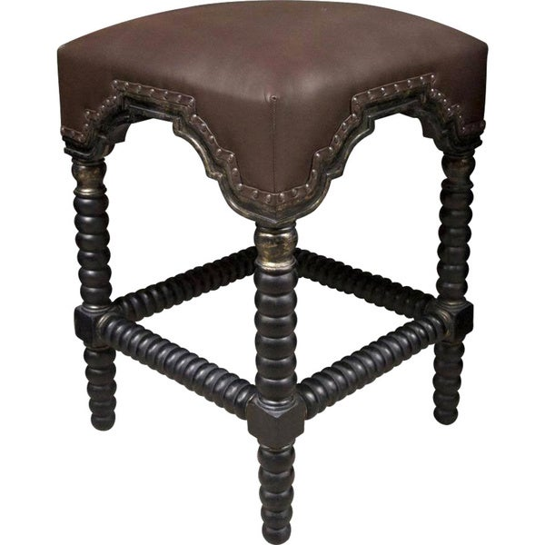 Upholstered Bar Stool Ridged Leg Stools With Backs And: Shop Ridged Leg Nailhead Trim Hand-rubbed Black/ Gold