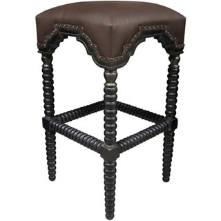 Ridged Leg Nailhead Trim Counter Stool
