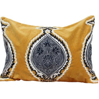 Auburn Textiles Velvet Embroidery Decorative Pillow Cover