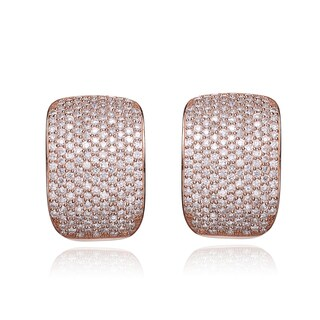 Collette Z Rose Goldplated Sterling Silver Cubic Zirconia Micro Pave-set Cuff Earrings