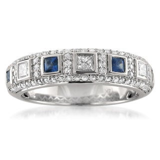 Link to Montebello 14KT White Gold Gemstone and 1/2ct TDW Diamond Wedding Band Similar Items in Wedding Rings